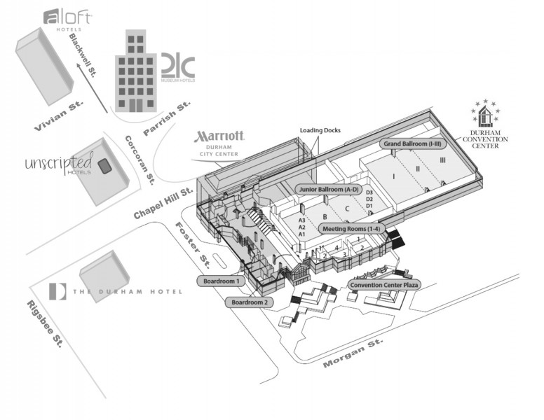 Floor Plans, Capacity Chart and Amenities | Durham Convention Center